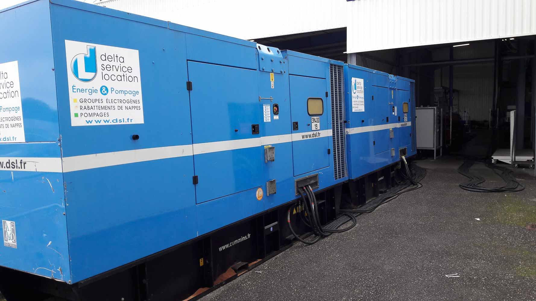 2 groupes électrogènes 500 kVA et une armoire TGBT 3200 A