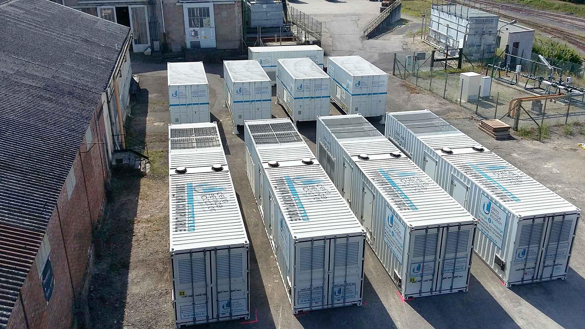 Centrale d'énergie temporaire de 8 MVA pour la verrerie