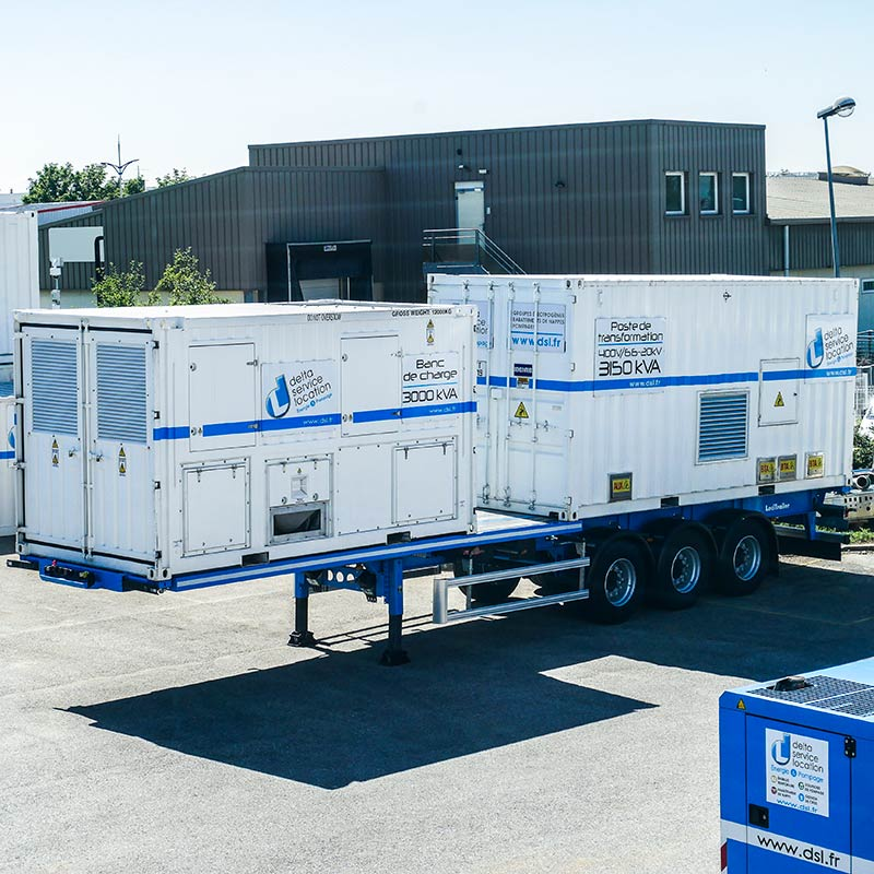 Trailer-mounted Load Bank with a Transformer
