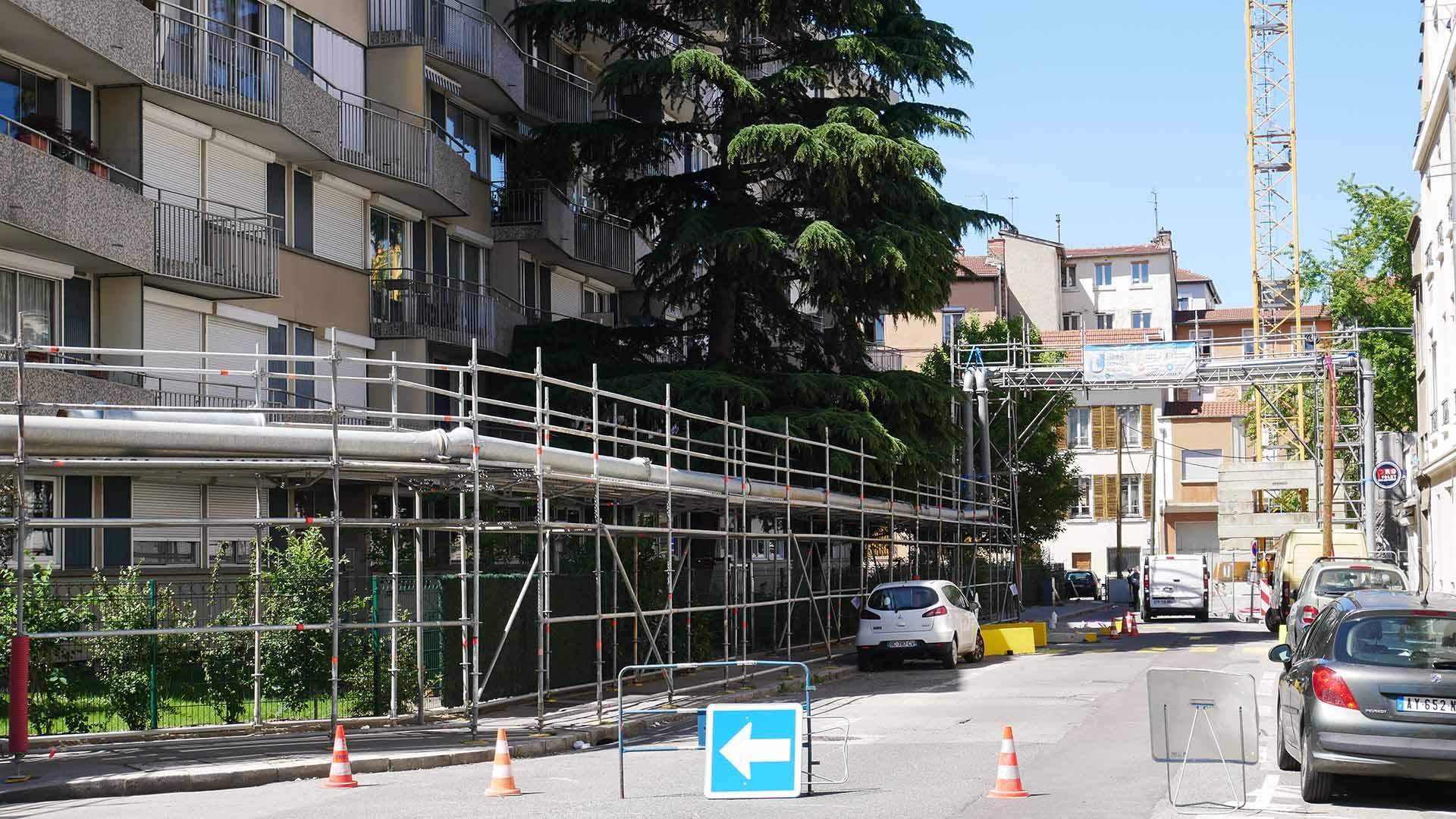 Rabattement de nappe à Lyon